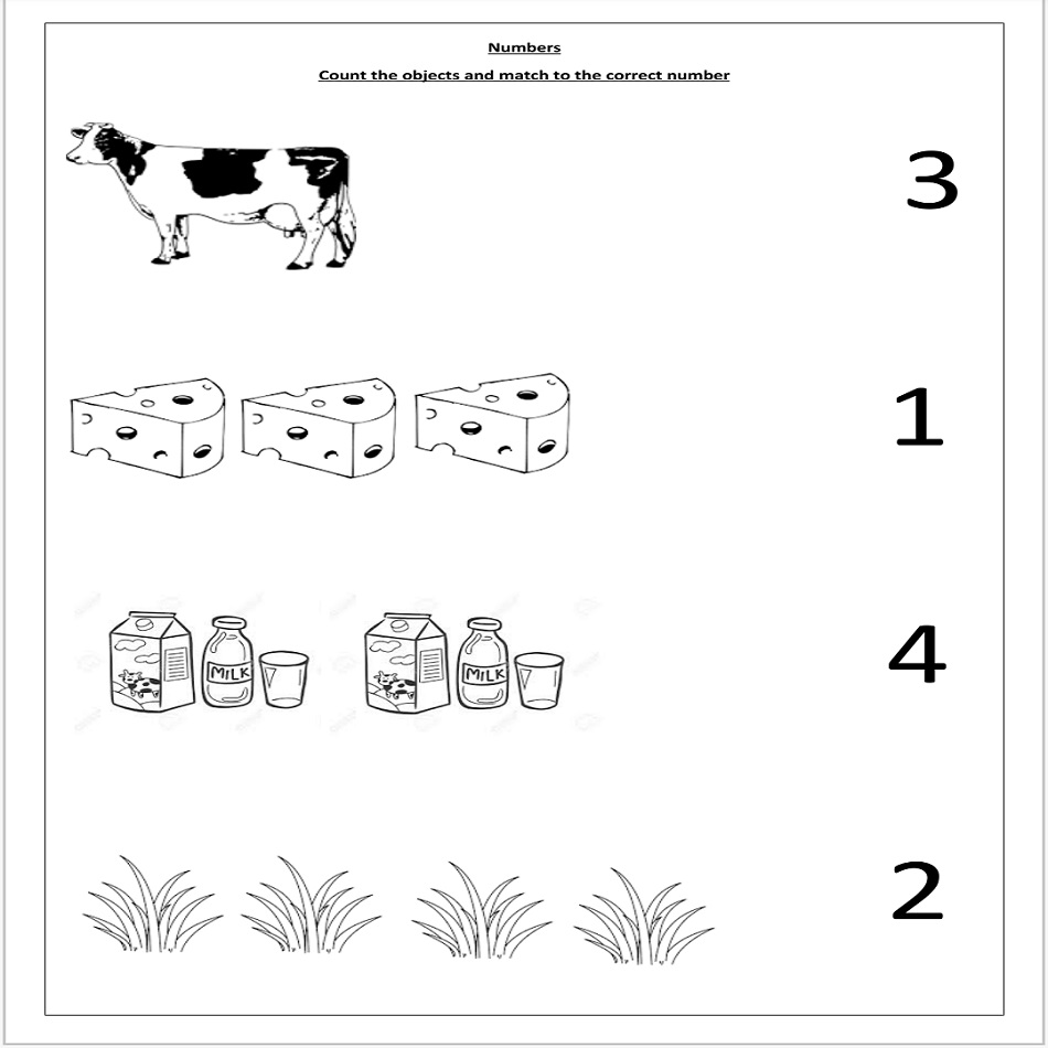 numbers thematic worksheet