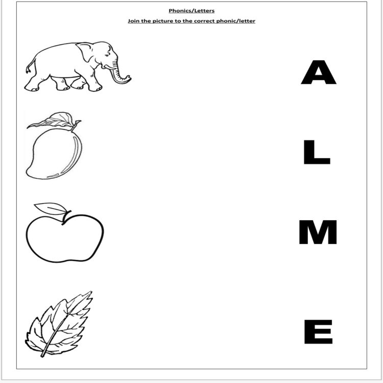 preschool alphabet worksheet